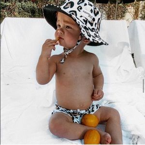 Other - Leopard bucket hat and swim trunk set 6-12 months